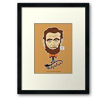 Wolfraham Lincoln Framed Print