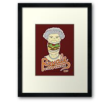 Royale with cheese Framed Print