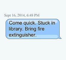 Bring Fire Extinguisher by sammyger