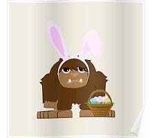 Cute Easter Bigfoot Poster