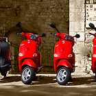 chianti scooters, Radda in Chianti, Tuscany, Italy by Andrew Jones