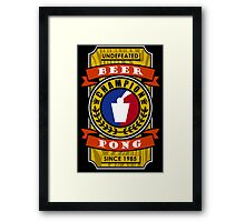 Undefeated Beer Pong Champion Framed Print