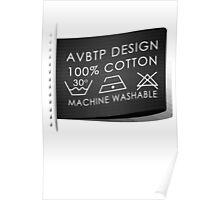 100% Cotton Machine Washable Poster