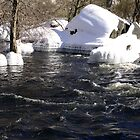 Ice skirts on the Concord River in Lowell by ouellettep