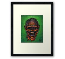 Severed Zombie Head Framed Print