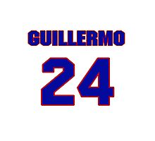 National baseball player Guillermo Quiroz jersey 24 Photographic Print