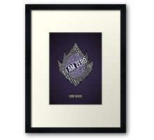 Code GEASS Typography Framed Print