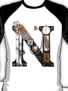 Steampunk Typography 'N' T-Shirt