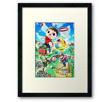 Super Smash Bros - Villager, Mario, Kirby, Link Framed Print
