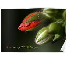 I am always here for you Poster