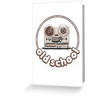 Old School tape recorder Greeting Card