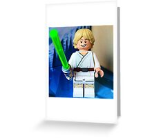 Lego Luke Skywalker Greeting Card