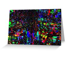 Stained Glass Chaos  8 02 2008 Greeting Card