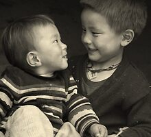 Brothers, Nepal by LeighBlake