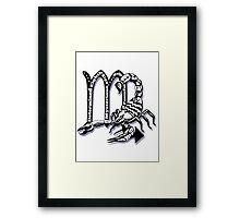 Scorpio star sign  Framed Print