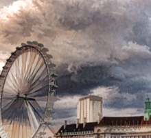 Impressions of London - London Eye Dramatic Skies Sticker