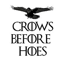 Crows before hoes Photographic Print
