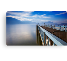 Lake Wörthersee jetty Canvas Print