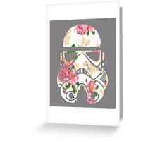 Vintage Floral Star Trooper Bot Design Greeting Card
