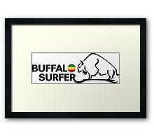 Buffalo Surfer RASTA HRZ STK BLK Framed Print