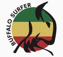 Buffalo Surfer Rasta Circle Text Kids Clothes