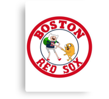 Boston red sox Adventure time Canvas Print