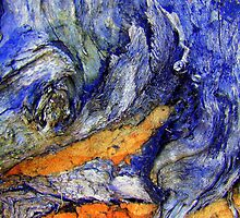 "Bark Macro...""Breaking Waves"" by debsphotos"