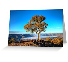 To The Point - Kissing Point - Hill End NSW - THe HDR Series Greeting Card