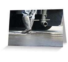 Hot Shoes!  Asphalt worker, La Mirada, CA USA Greeting Card