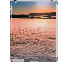 Snow, fields and a winter sunset | landscape photography iPad Case/Skin