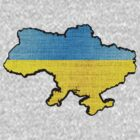 Ukraine Flag Map by Nhan Ngo