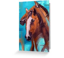 Horses Together 1 Greeting Card
