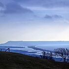 Landscape across Chesil Beach and Abbotsbury by lynn carter