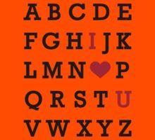 I love you alphabet Kids Clothes