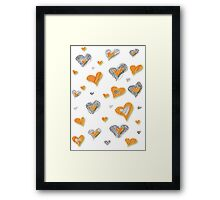 Hearts Happiness Framed Print