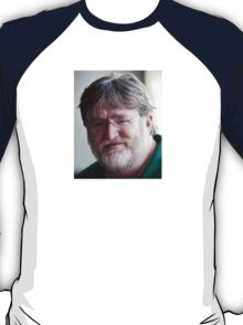 Gabe Newell's Bearded Face T-Shirt