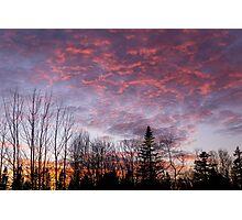Sunset Jonesport Maine  Photographic Print