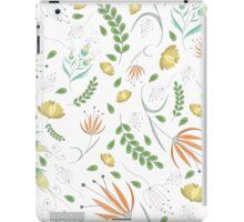 Floral white pattern iPad Case/Skin
