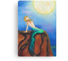 Mermaid's Moods: Moon Canvas Print
