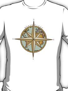 Wanderlust Compass & Map T-Shirt