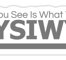 wysiwyg - what you see is what you get Sticker