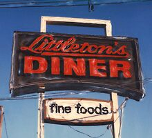 Littleton's Diner Sign by Steven Godfrey