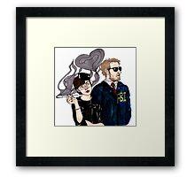 Janet & Burt Framed Print
