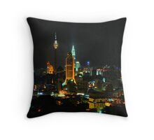 Kuala Lumpur at Night Throw Pillow