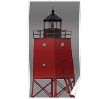 South Pier Lighthouse, Charlevoix Michigan Poster