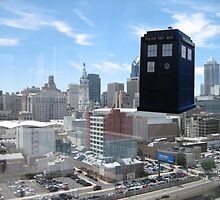 TARDIS Over Philly by zenjamin