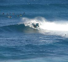 Love Heart Wave Surfer - near Ulladulla Light House by Sharon Robertson