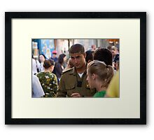 Young officer Framed Print