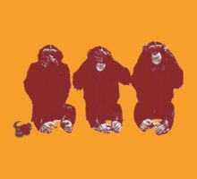 The three wise monkeys (red) by Basic Billy Boy Brown