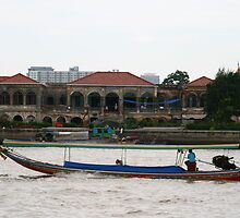 Boat on the Chao Praya River by Neil Grainger